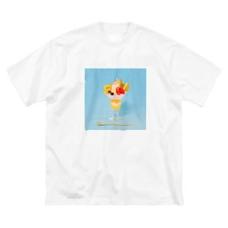 フルーツパフェなアイテム Big silhouette T-shirts