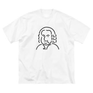 バッハ イラスト 3 Big silhouette T-shirts