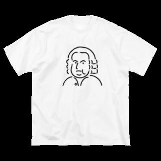 Aliviostaのバッハ イラスト 3 Big silhouette T-shirts