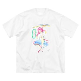 ココシバ×絶景書店 Big silhouette T-shirts