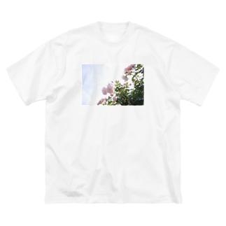 ばら Big silhouette T-shirts