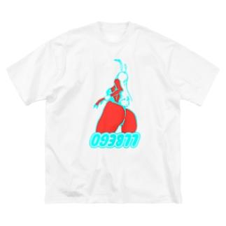 バニケツ Big silhouette T-shirts