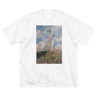 散歩、日傘をさす女性 / クロード・モネ Big silhouette T-shirts