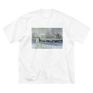 カササギ / クロード・モネ Big silhouette T-shirts