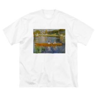 アニエールのセーヌ川(船遊び) / ピエール=オーギュスト・ルノワール Big silhouette T-shirts