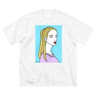 ポニーテール Big silhouette T-shirts