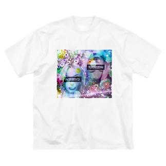 可愛い女の子(演) Big silhouette T-shirts