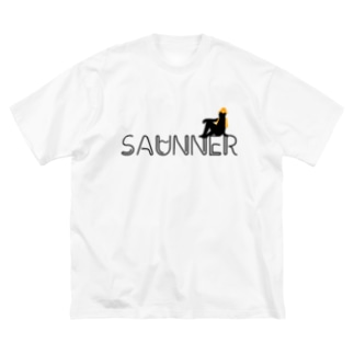 サウナで泣くOLのSAUNNER_ORANGE Big silhouette T-shirts