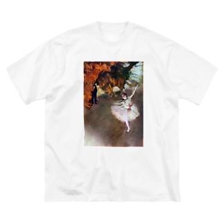 舞台の踊り子 / エドガー・ドガ Big silhouette T-shirts