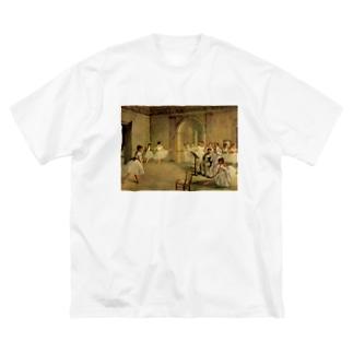 オペラ座の稽古場 / エドガー・ドガ Big silhouette T-shirts