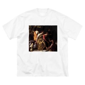 public domainのディアナとニンフたち / ヨハネス・フェルメール Big silhouette T-shirts