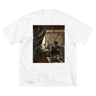 絵画芸術 / ヨハネス・フェルメール Big silhouette T-shirts