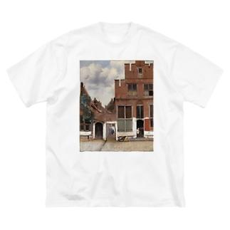 デルフトの小道 / ヨハネス・フェルメール Big silhouette T-shirts