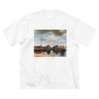 デルフトの眺望 / ヨハネス・フェルメール Big silhouette T-shirts