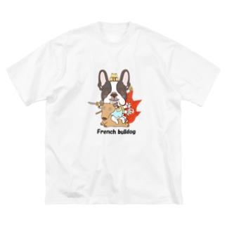 大威徳明王 フレンチブルドッグ Big silhouette T-shirts