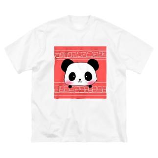 大熊猫 Big silhouette T-shirts