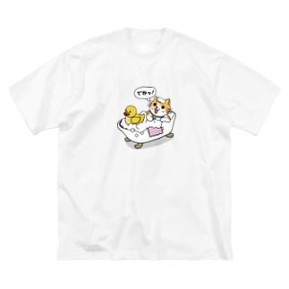 バスルーム Big silhouette T-shirts