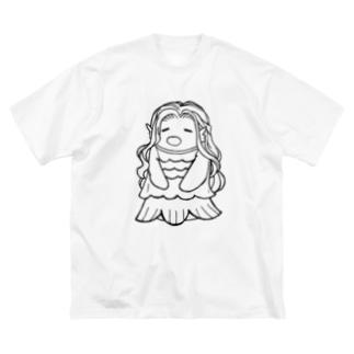 アマぴエさん Big silhouette T-shirts