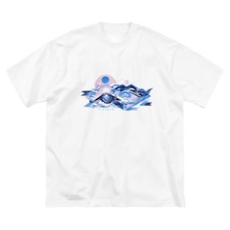 そらのぼる Big silhouette T-shirts