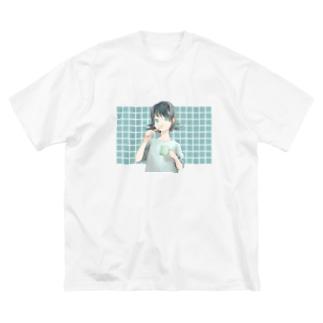 歯磨き Big silhouette T-shirts