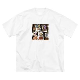 フラワーコレクション Big silhouette T-shirts