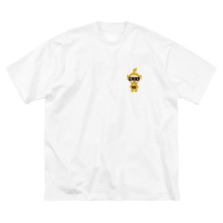 照れたビーズ。 Big silhouette T-shirts