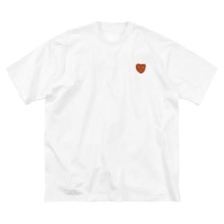 ハートくん Big silhouette T-shirts