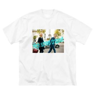 高校中退してもいいんだよシリーズ Big silhouette T-shirts