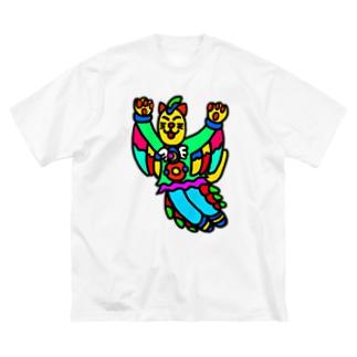 猫のフィーリン Big silhouette T-shirts