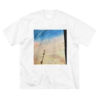 色鉛筆ビッグシルエットフォトTee Big silhouette T-shirts