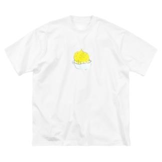 ちくちくびのレモンサワー頼んだ時のやつ Big silhouette T-shirts