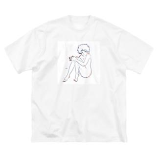 まだコドモだもん Big silhouette T-shirts