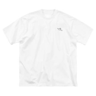 人工衛星 Big silhouette T-shirts