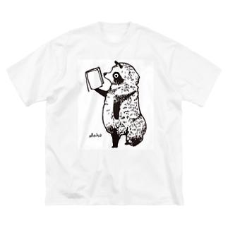 たちよみたぬき Big silhouette T-shirts