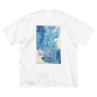 たゆたい Big silhouette T-shirts