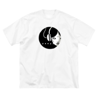 erubakki_のぞき中 Big silhouette T-shirts