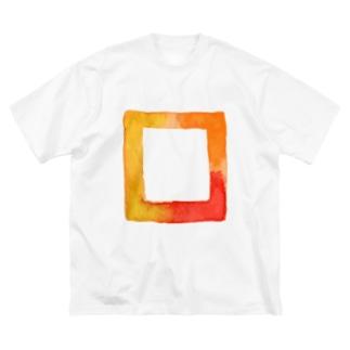 「スクエア柄」オーバーサイズ Big silhouette T-shirts