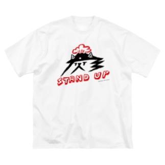 【KUFC  第2弾!】 篠崎 理一郎 × KUFC / Big style - T-SHIRTS Big silhouette T-shirts