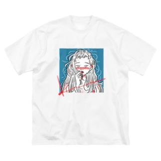 ぼさぼさガール Big silhouette T-shirts
