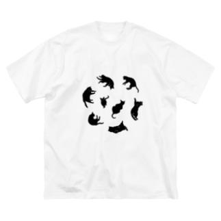 Kitties (Black Big silhouette T-shirts