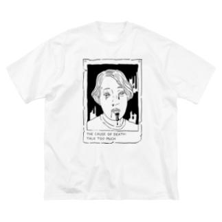 VICTIM_CASE01 Big silhouette T-shirts
