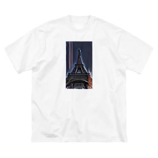 MASSAMAN&Co.のえっふぇるとう Big silhouette T-shirts