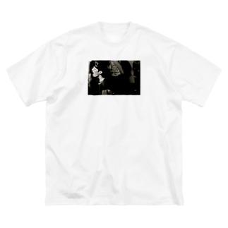 私利私欲 Big silhouette T-shirts