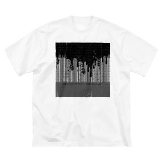 バイナリーバーコード破壊 Big silhouette T-shirts