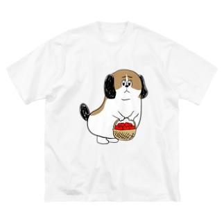 もじゃまるお見舞い Big silhouette T-shirts