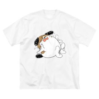 もじゃまるやだやだ Big silhouette T-shirts