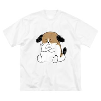 もじゃまる納得 Big silhouette T-shirts