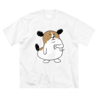 もじゃまるおまかせ Big silhouette T-shirts