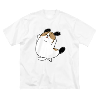 もじゃまるぴゃーん 文字なし Big silhouette T-shirts
