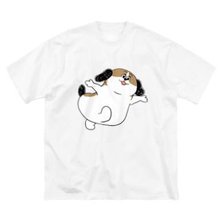 もじゃまるあそんで Big silhouette T-shirts